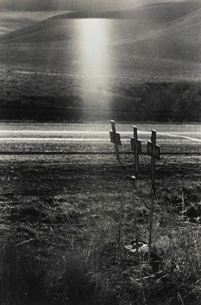 Robert Frank-U. S. 91 Idaho (Crosses On Scene Of Highway Accident)-1956