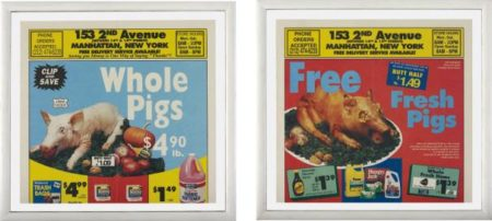 Untitled (Whole Pigs); and Untitled (Fresh Pigs)-1994