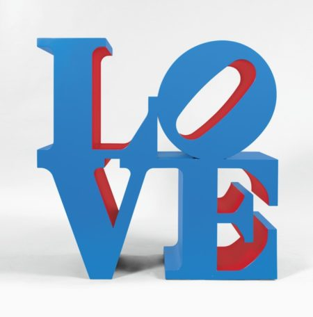 Robert Indiana-Love (Blue Outside Red Inside)-1998