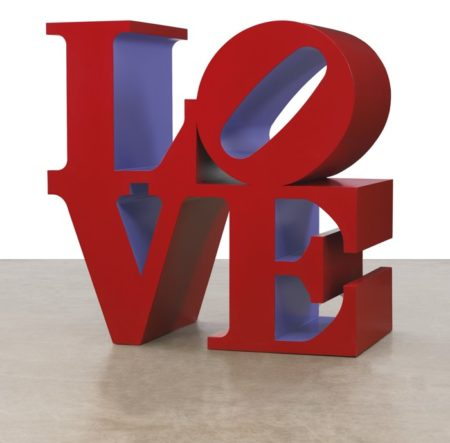 Robert Indiana-Love (Red Outside Violet Inside)-1999