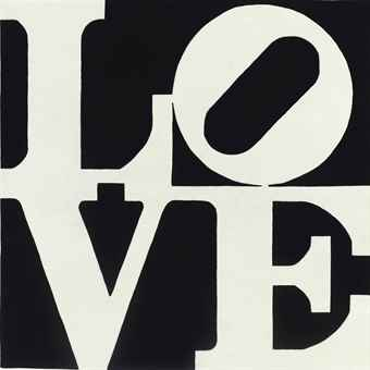 Robert Indiana-White on Black Love-