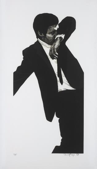 Robert Longo-Mark, from Men in the Cities-1983