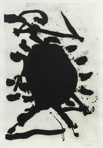 Robert Motherwell-Blackened Sun-1984