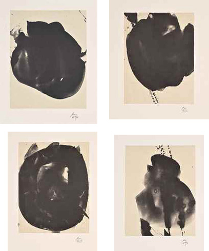 Robert Motherwell-Four plates, from Octavio Paz Suite-1988
