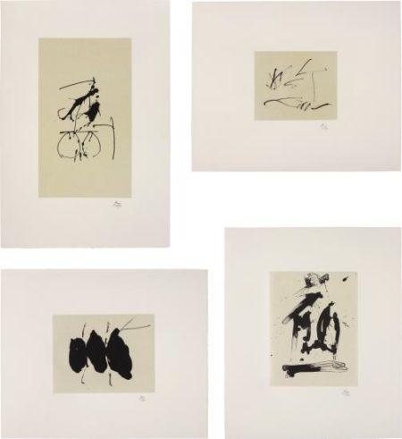 Robert Motherwell-Octavio Paz, Three Poems: 18 plates; and Octavio Paz, Three Poems: 26 plates-1988