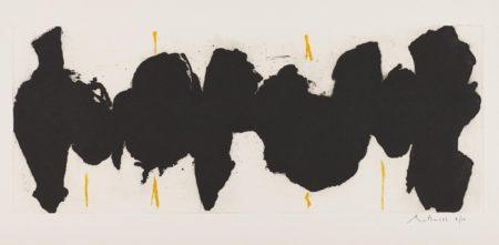 Robert Motherwell-Running Elegy II, Yellow State-1983