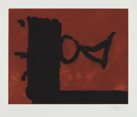 Robert Motherwell-The Razor's Edge-1986