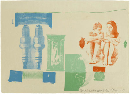 Robert Rauschenberg-Romances (Myth), from Romances series-1977