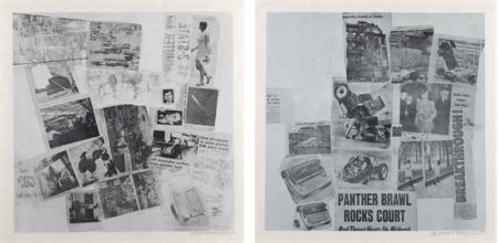 Robert Rauschenberg-Two plates, from Features from Currents-1970