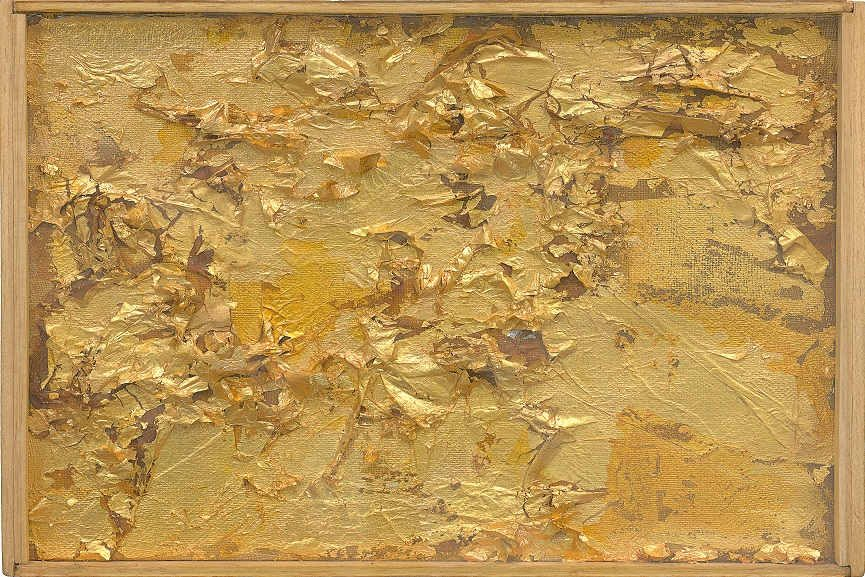 Robert Rauschenberg - Untitled (Gold Painting). ca. 1953
