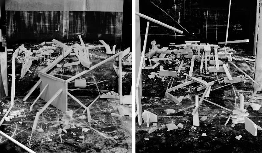 Rodrigo - Hedonic Reversal #4 (Left) - #13 (Right, 2014 press help print gallery museum video