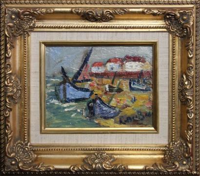 Roland Dubuc-Bateaux de peche en bord de mer-