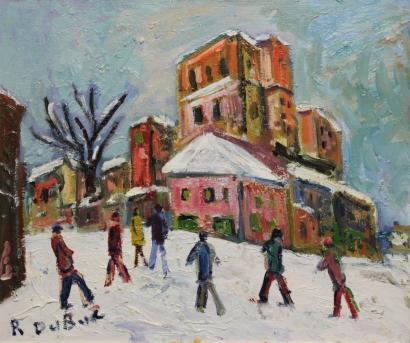 Roland Dubuc-Montmartre sous la neige-