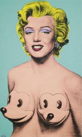 Ron English-Marilyn Anti-Warhol #5-2005
