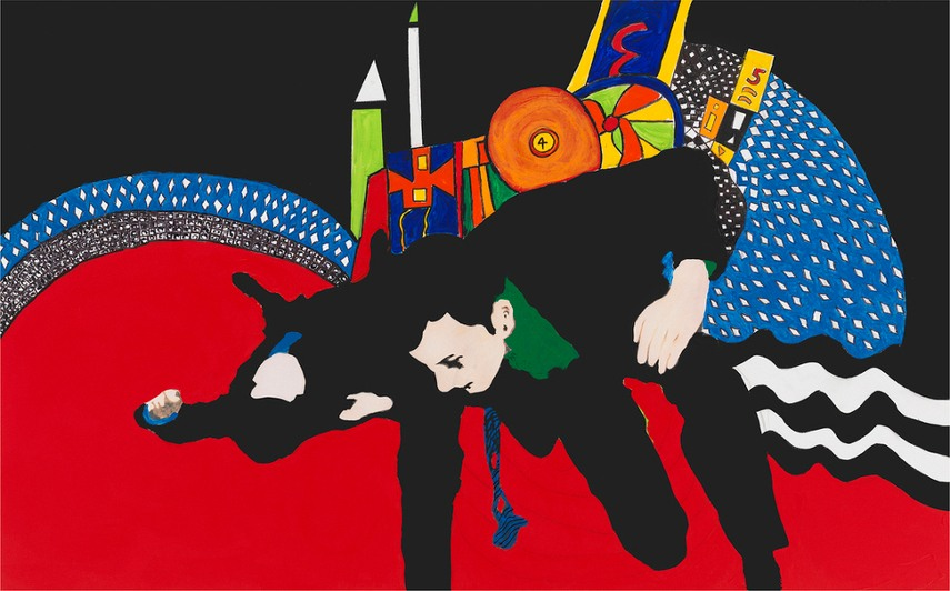 Rosalyn Drexler used to view the world around her, not restraining the view to gallery or museum view, and result of these observations were works like Climbing Out of a Painting Ain't Easy