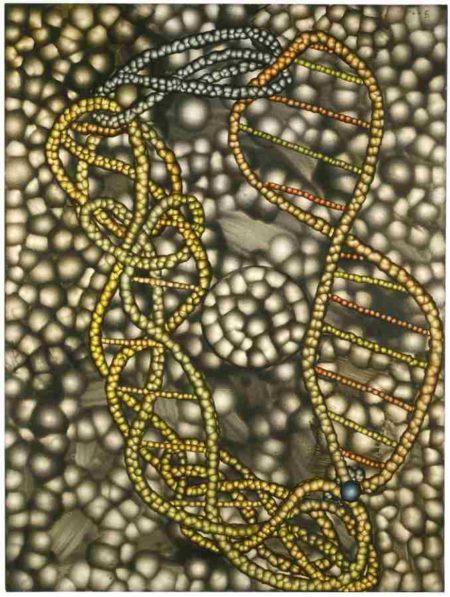 Ross Bleckner-Untitled (DNA)-2000