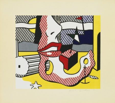 Roy Lichtenstein-A Bright Night (from the Surrealist Series)-1978
