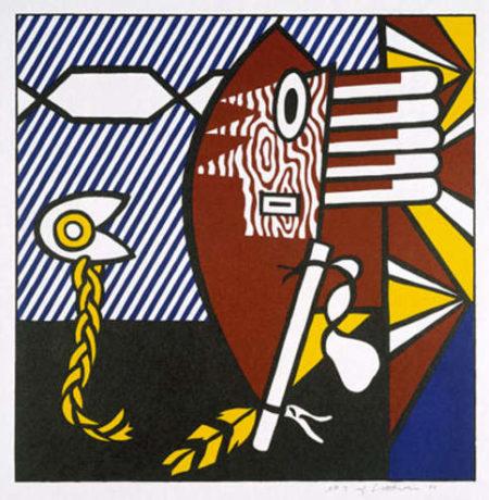 Roy Lichtenstein-American Indian Theme I-1980