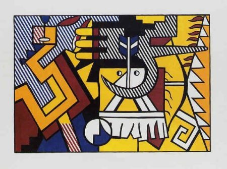 Roy Lichtenstein-American Indian Theme VI-1980
