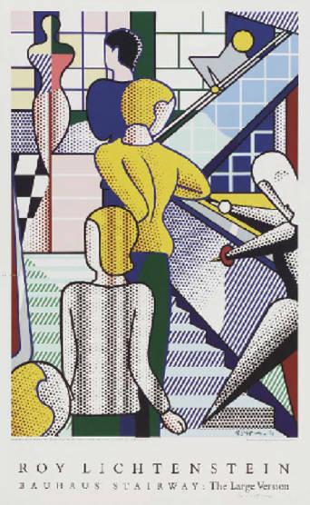 Roy Lichtenstein-Bauhaus Stairway: The Large Version-1989