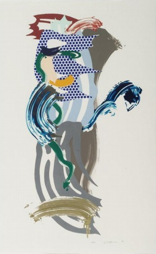Roy Lichtenstein-Blue Face (from Brushstroke Figures Series)-1989