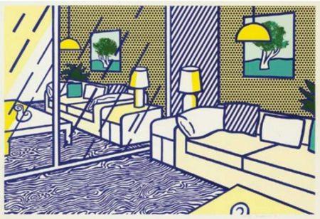 Roy Lichtenstein-Blue Floor, from Interior Series-1990