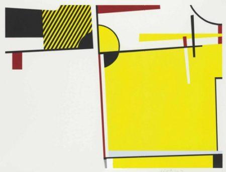 Roy Lichtenstein-Bull VI, from Bull Profile Series-1973