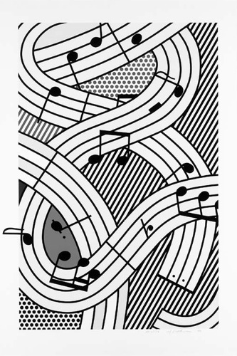 Roy Lichtenstein-Composition III-1996