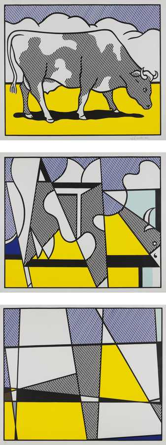 Roy Lichtenstein-Cow Going Abstract-1982