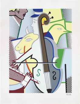 Roy Lichtenstein-Cubist Cello-1998