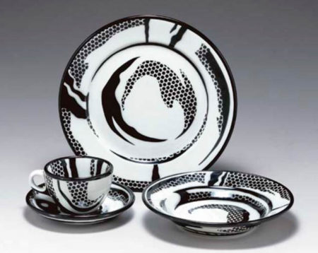 Roy Lichtenstein-Dinnerware: Two settings-1966