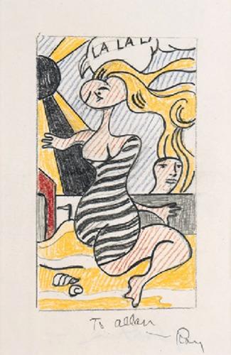 Roy Lichtenstein-Drawing for La La La!-1977