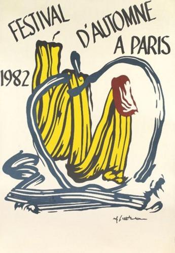 Roy Lichtenstein-Festival d'Automne a Paris-1982