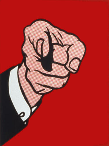 Roy Lichtenstein-Finger Pointing-1973