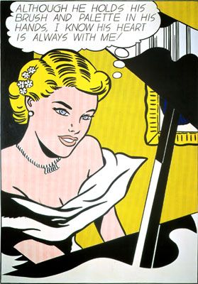 Roy Lichtenstein-Girl at piano-1963