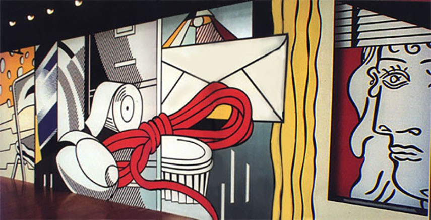 Lichtenstein Mural painting wall contact page Replica
