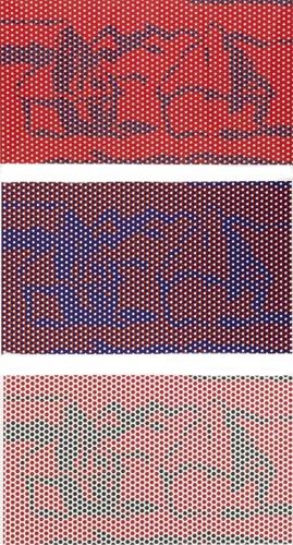 Roy Lichtenstein-Haystack #2; Haystack #4; Haystack #5-1969