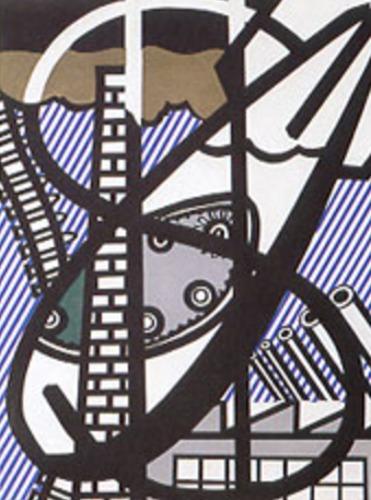 Roy Lichtenstein-Illustration Une fenetre ouverte sur Chicago; Illustration for De nouveau au-dessus de Denver-1992