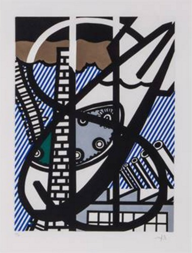 Roy Lichtenstein-Illustration for Une Fenetre ouverte sur Chicago-1992