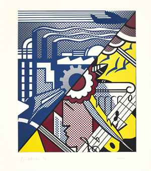Roy Lichtenstein-Industry and the Arts (I)-1969