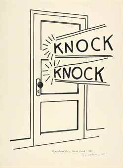 Roy Lichtenstein-Knock, Knock-1975