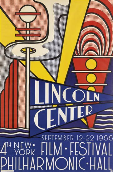 Roy Lichtenstein-Lincoln Center Film Festival Poster; Aspen Winter Jazz; Merton of the Movies; Stedelijk Museum Poster; Art About Art-1967
