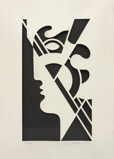 Roy Lichtenstein-Modern Head #5, from Modern Head Series-1970