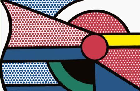 Roy Lichtenstein-Modern Painting with red Circle-1967