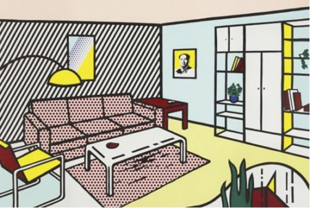Roy Lichtenstein-Modern Room, from Interior series-1990