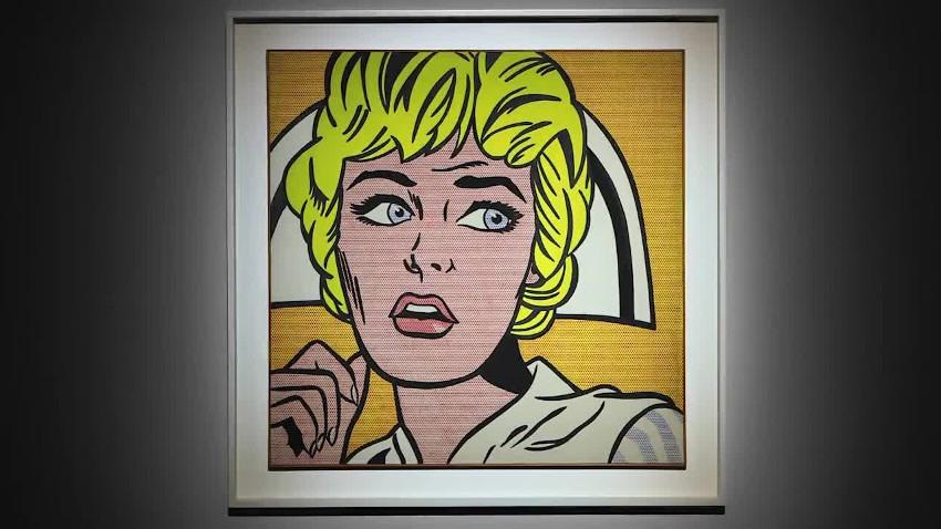Roy Lichtenstein - Nurse, 1964, installation view, Andy Warhol 1967