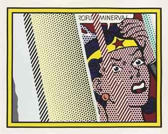 Roy Lichtenstein-Reflections on Minerva (from the Reflections series)-1990