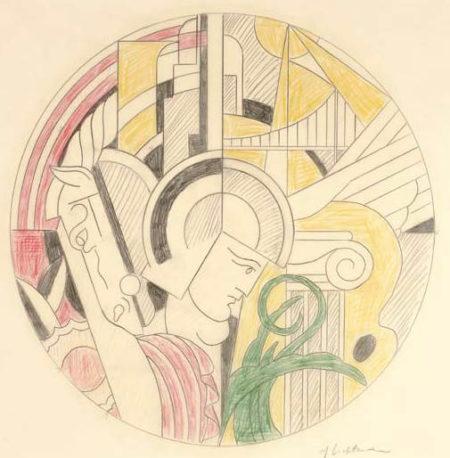 Roy Lichtenstein-Study for Solomon R.Guggenheim Poster-1969