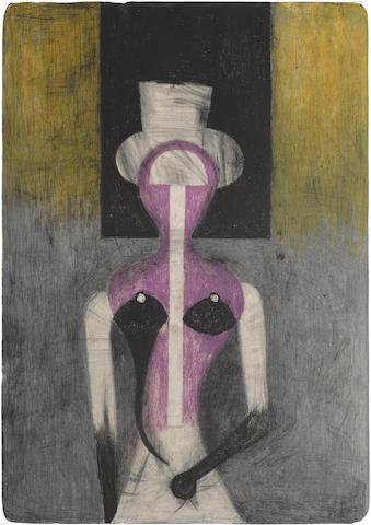 Rufino Tamayo-Mujer con Sombrero-1972