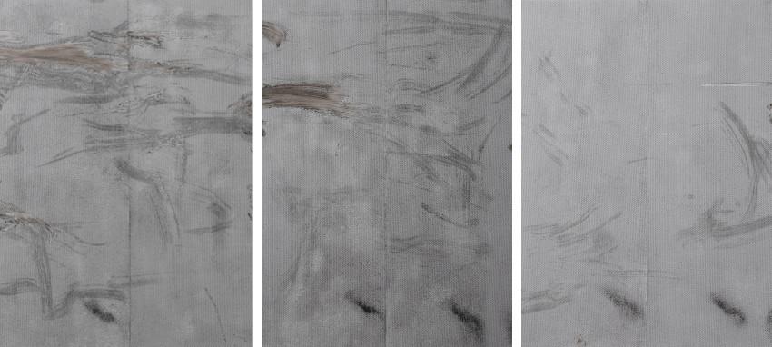 Ryan Estep - Sterilized Dirt B1, 2014 (Left) - Sterilized Dirt B4, 2014 (Center) - Sterilized Dirt B10, 2014 (Right)